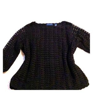 Black Sweater lined with 3/4 length sleeves